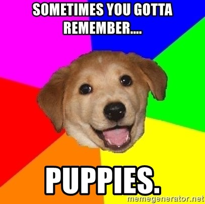 Advice Dog - Sometimes you gotta remember.... Puppies.
