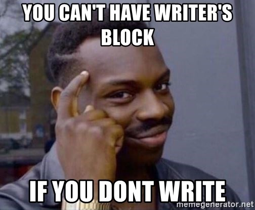 Image result for writers block meme