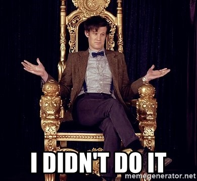 Hipster Doctor Who - I didn't do it