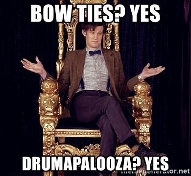 Hipster Doctor Who - bow ties? yes drumapalooza? yes