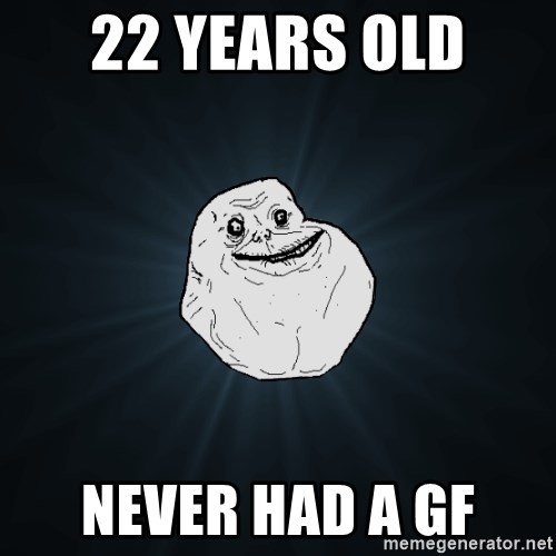 Forever Alone - 22 years old  never had a gf