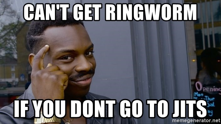 Black Guy Pointing - Can't get ringworm if you dont go to jits