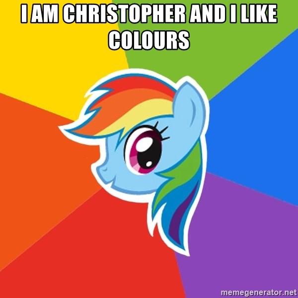 Rainbow Dash - i am christopher and i like colours