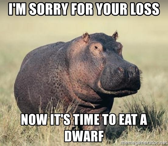 Im Sorry For Your Loss Now Its Time To Eat A Dwarf Haxball Hippo