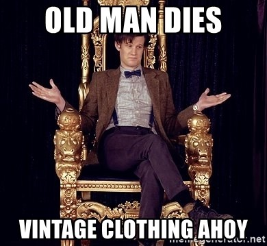 Hipster Doctor Who - Old man dIes Vintage clothing aHoy