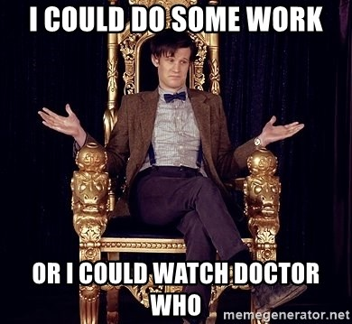 Hipster Doctor Who - i could do some work or i could watch doctor who