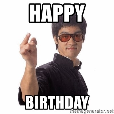 Bruce Lee - happy birthday