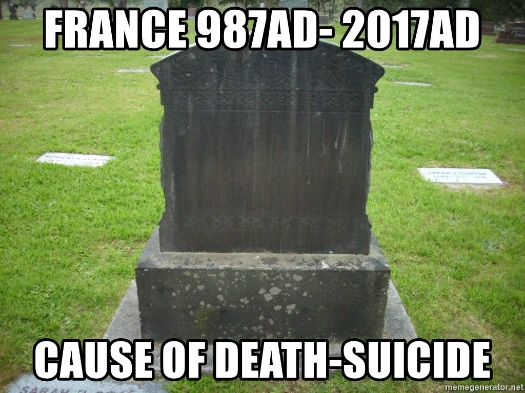 gravestone - france 987ad- 2017ad cause of death-suicide