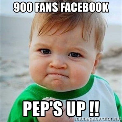 Victory Baby - 900 Fans Facebook Pep's UP !!