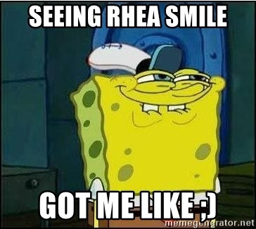 Bob Esponja - SEEing rhea smile Got me like ;)