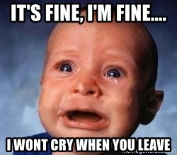 Very Sad Kid - It's fine, I'm Fine.... I wont cry when you leave