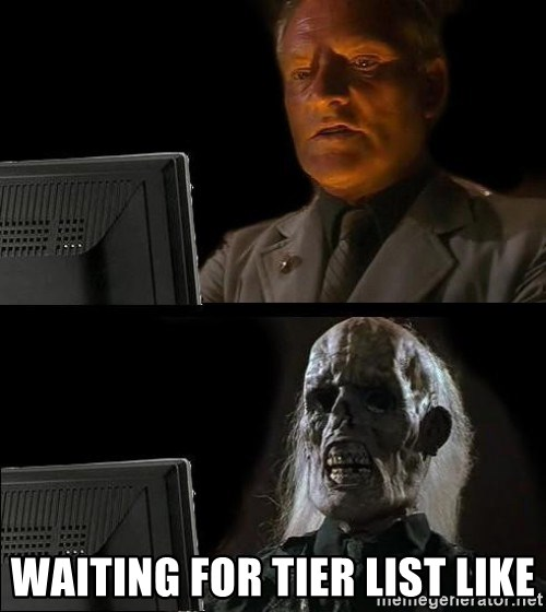 Waiting For -  Waiting for tier list like