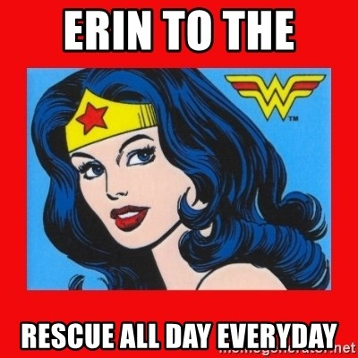 wonder woman - Erin to the  Rescue all day everyday