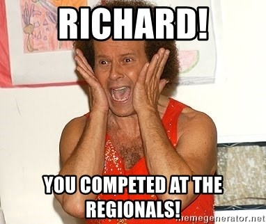 Richard Simmons Screaming - Richard! You competed at the regionals!