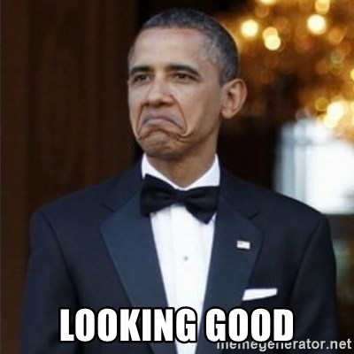 Not Bad Obama -  LOOKING GOOD