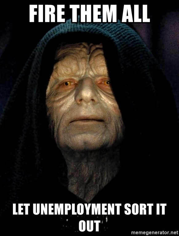 Star wars unemployment And have