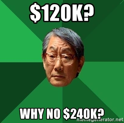 High Expectations Asian Father - $120K? Why no $240K?