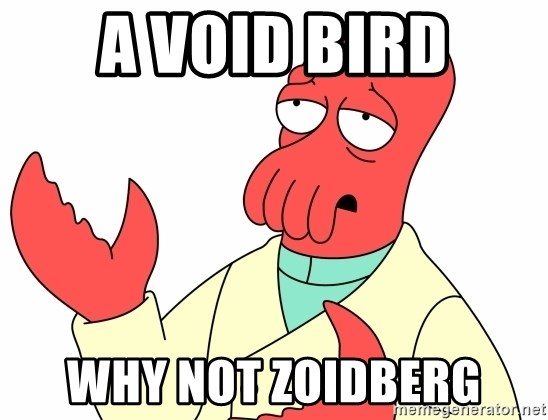 Why not zoidberg? - A VOID BIRD WHY NOT ZOIDBERG