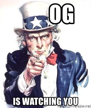 Uncle Sam -         og    is watching you