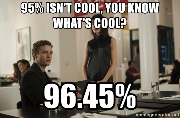 sean parker - 95% isn't cool, You know what's cool? 96.45%