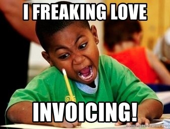 I Freaking Love Invoicing Black Writing Coloring Kid