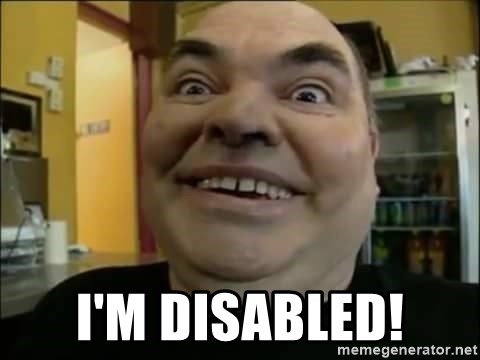 Leonard the Nut -  I'm disabled!