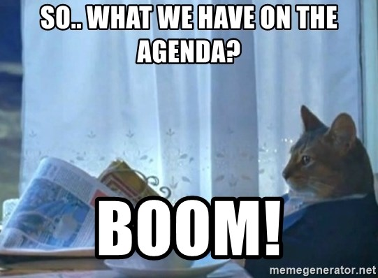 newspaper cat realization - so.. what we have on the agenda? boom!