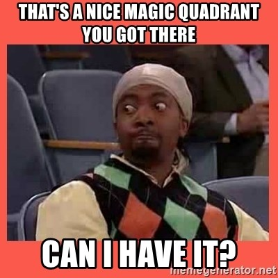 Can I have your number? - That's a nice Magic Quadrant you got there Can I have it?