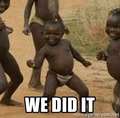 Success African Kid - We Did It