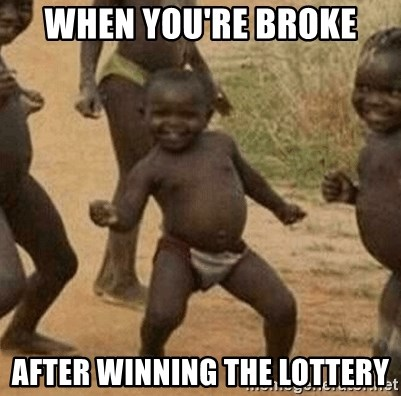 Success African Kid - when you're broke after winning the lottery
