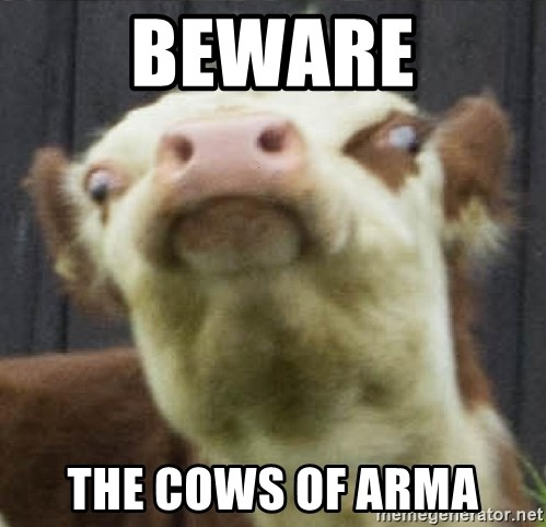BEWARE The cows of arma - angry ghetto cow | Meme Generator