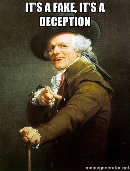 Ducreux - It's a fake, it's a deception