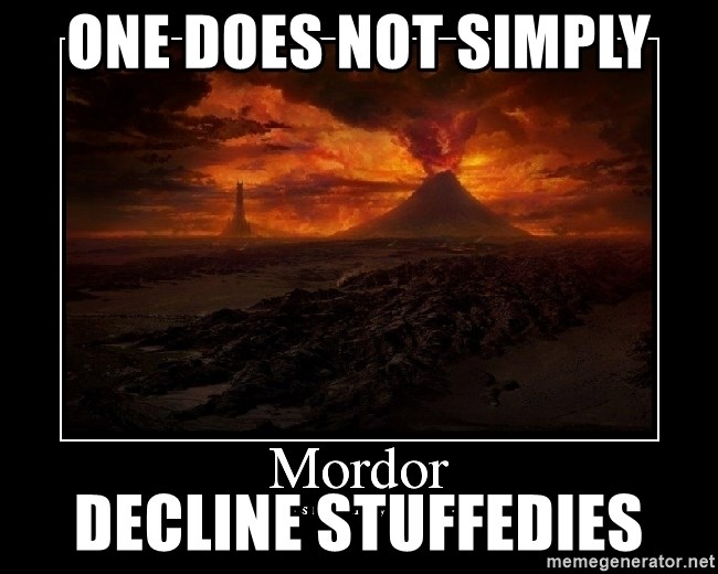 Lord Of The Rings Boromir One Does Not Simply Mordor - one does not simply decline stuffedies