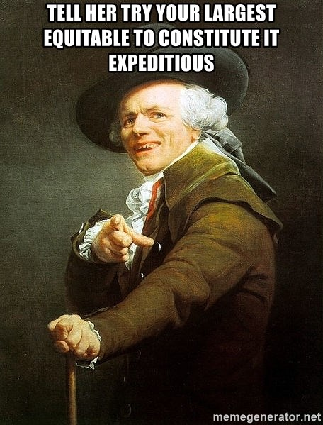 Ducreux - Tell her try your largest equitable to constitute it expeditious