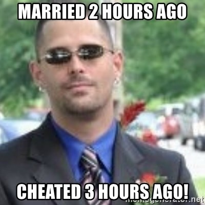 ButtHurt Sean - married 2 hours ago cheated 3 hours ago!