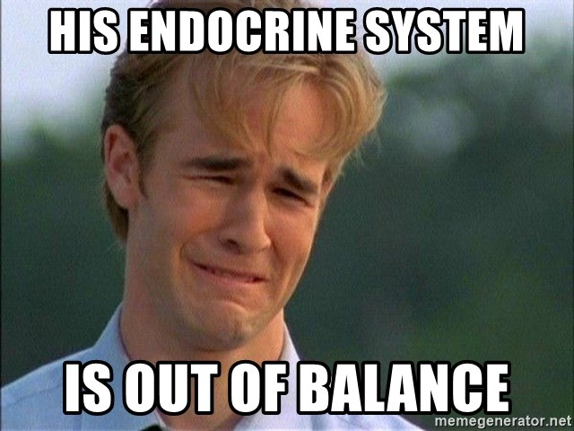 Crying Man - His endocrine system is out of balance