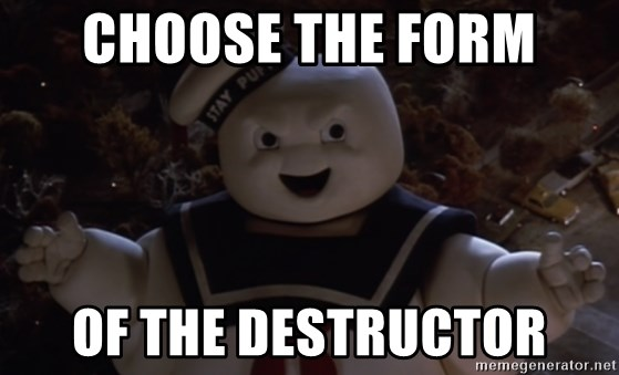 the form of the Destructor