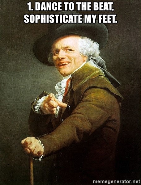 Ducreux - 1. Dance to the beat, sophisticate my feet.