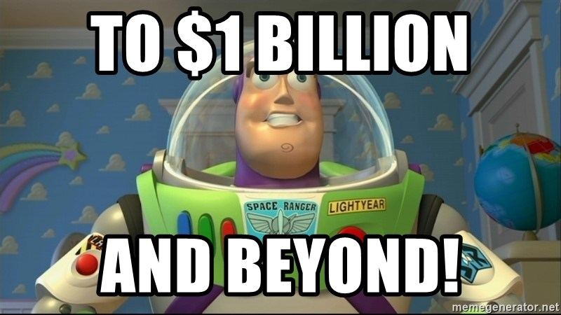 To 1 Billion And Beyond Buzz Lightyear To Infinity And Beyond Meme Generator