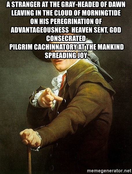 Ducreux - A stranger at the gray-headed of dawn