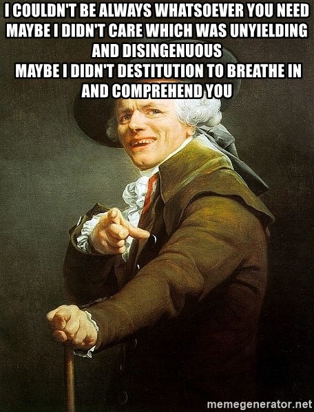 Ducreux - I couldn't be
