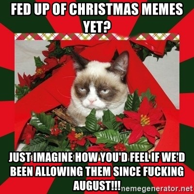 Christmas In August Meme.Fed Up Of Christmas Memes Yet Just Imagine How You D Feel