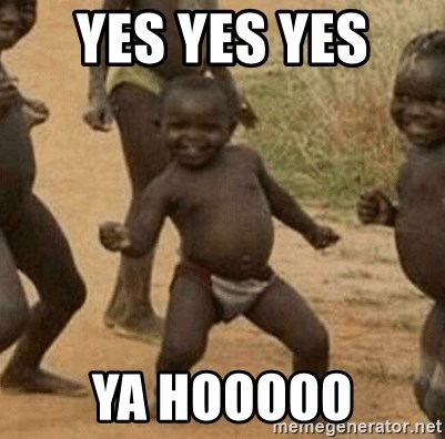 Success African Kid - yes yes yes  ya hooooo