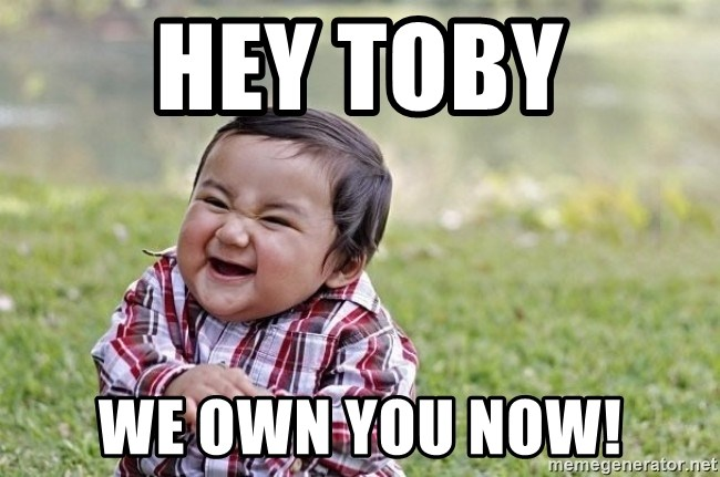 evil asian plotting baby - Hey toby We own you now!