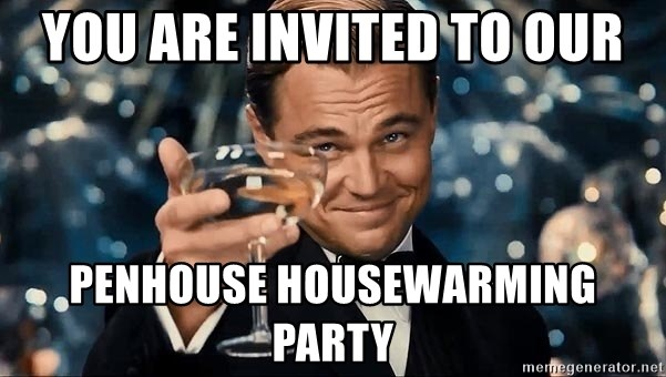 You Are Invited To Our Penhouse Housewarming Party Dicaprio Gatsby
