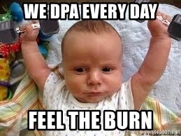 Workout baby - We DPA every day Feel the burn
