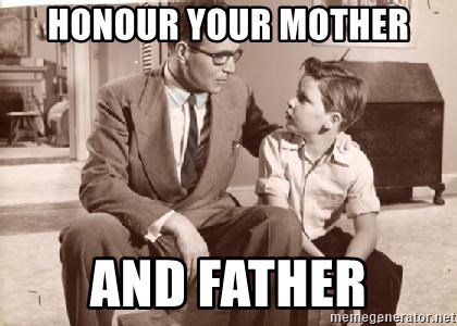 Racist Father - honour your mother and father
