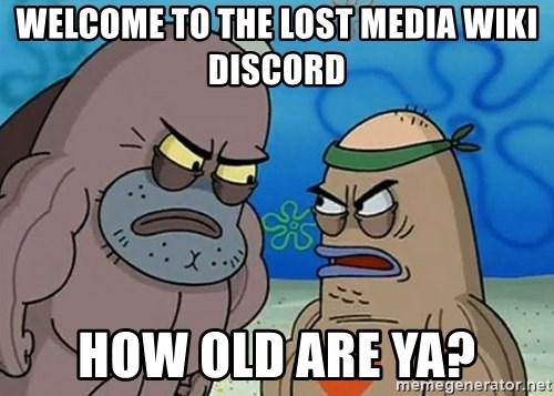 welcome to the lost media wiki discord how old are ya