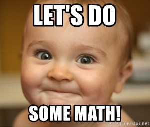 excited baby face - Let's do some math!
