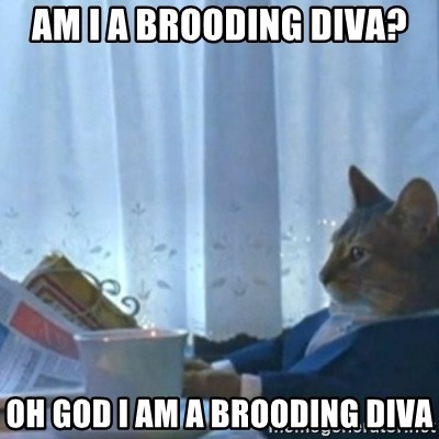 Sophisticated Cat Meme - am i a brooding diva? oh god I am a brooding diva